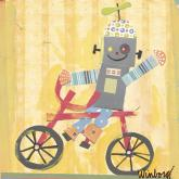 Biking Robot by Oopsy daisy