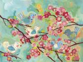 Cherry Blossom Birdies by Oopsy daisy