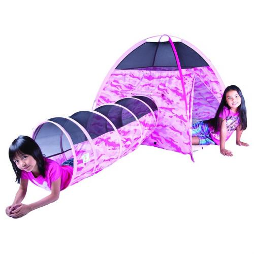 Pink Camo Tent Amp Tunnel Combo