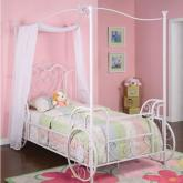 Princess Emily Carriage Twin Canopy Bed by Powell Company