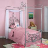 Princess Rebecca Silver Twin Canopy Bed by Powell Company