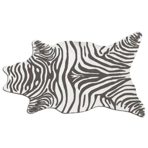 Zebra Grey Shaped Indoor-Outdoor Rug