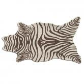 Zebra Brown Shaped Indoor-Outdoor Rug