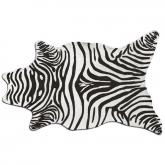 Zebra Black Shaped Indoor-Outdoor Rug