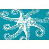 20,000 Leagues Indoor-Outdoor Rug in Blue and White
