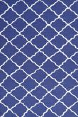 Lattice Navy Rug