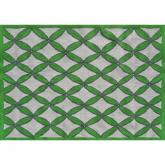 Diamonds Green / Gray Rug