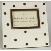 Swiss Dots Picture Frame - Chocolate