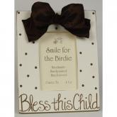 Bless This Child Picture Frame - Chocolate