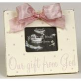 Gift From God Picture Frame - Pink