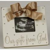 Gift From God Picture Frame - Taupe