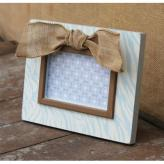 Zebra Picture Frame Embellished - Blue