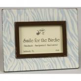 Zebra Picture Frame - Blue