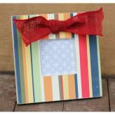 Stripes Square Embellished Picture Frame