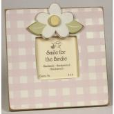 Gingham Daisy Picture Frame