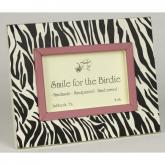 Zebra Picture Frame - Black