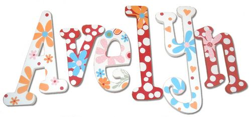 Lizzie Handpainted Name Letters