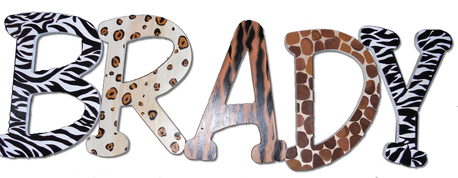 Wild Animal Print Name Letters