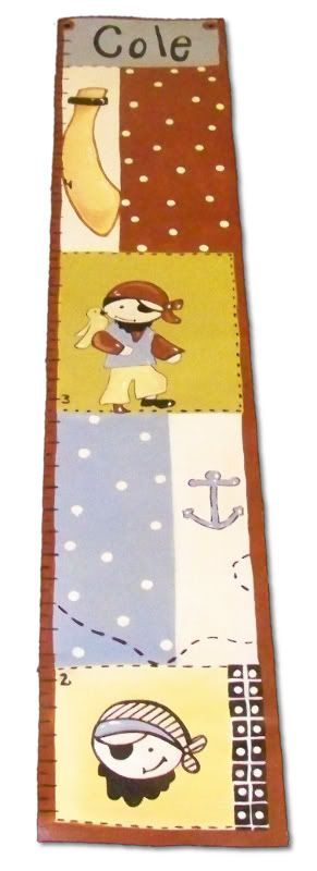 Custom Painted Wooden Growth Chart Thumbnail 3