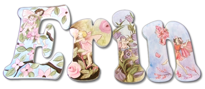 fairy garden hand painted wall letters
