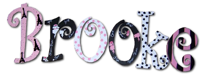 french poodles paris theme custom painted wall letters