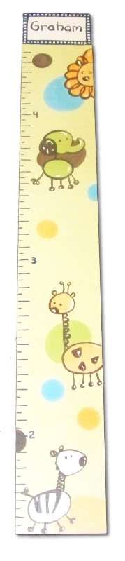 Custom Painted Wooden Growth Chart Thumbnail 6