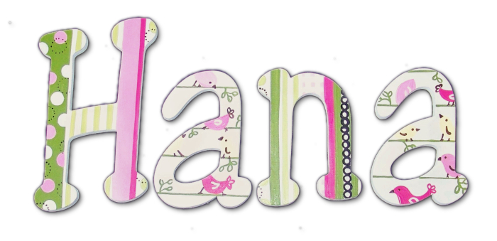 Little Birdy Hand Painted Wall Letters Thumbnail 1