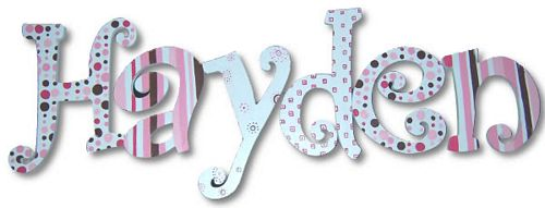Classic Pink Hand Painted Wall Letters Thumbnail 1
