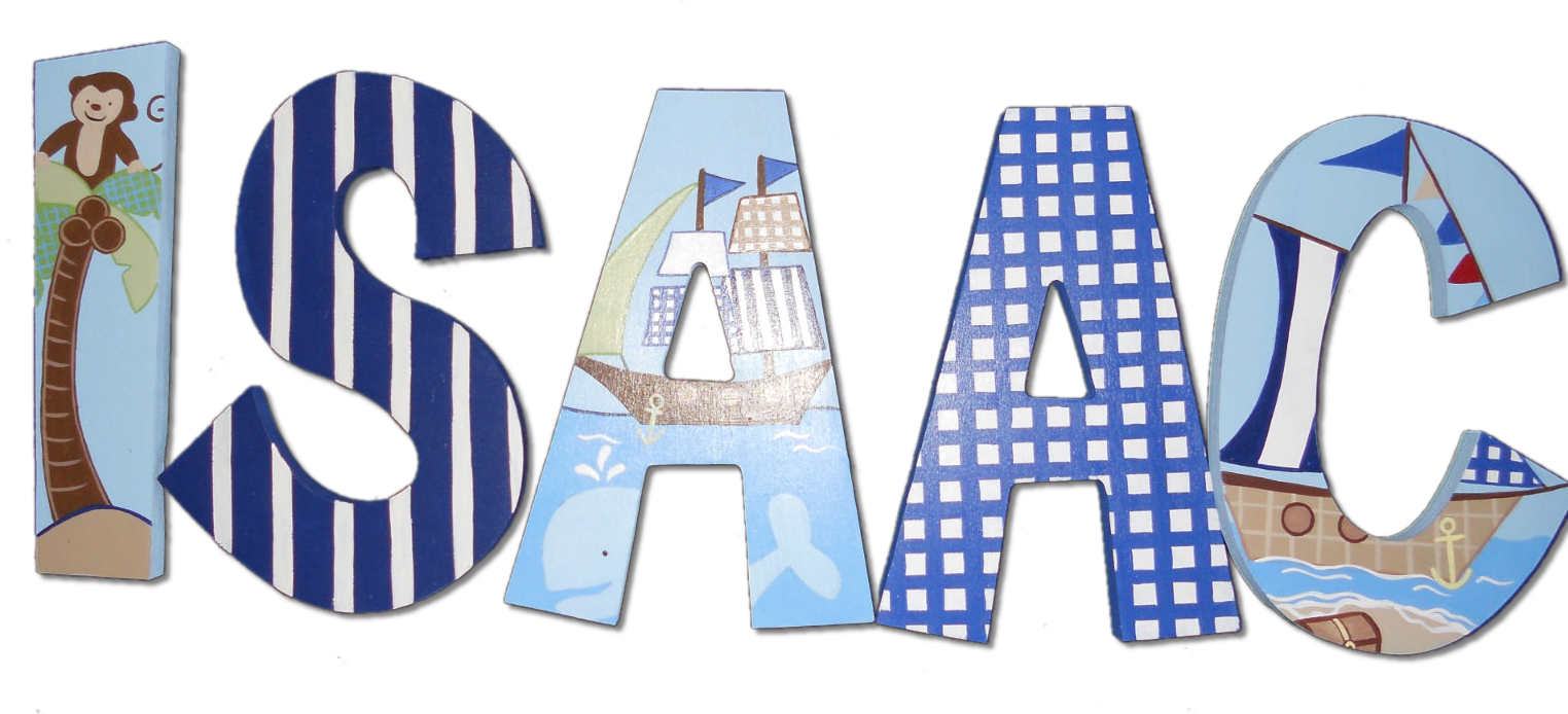 sailboat treasure wooden name letters