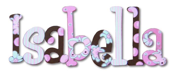 Hand Painted Wooden Name Letters
