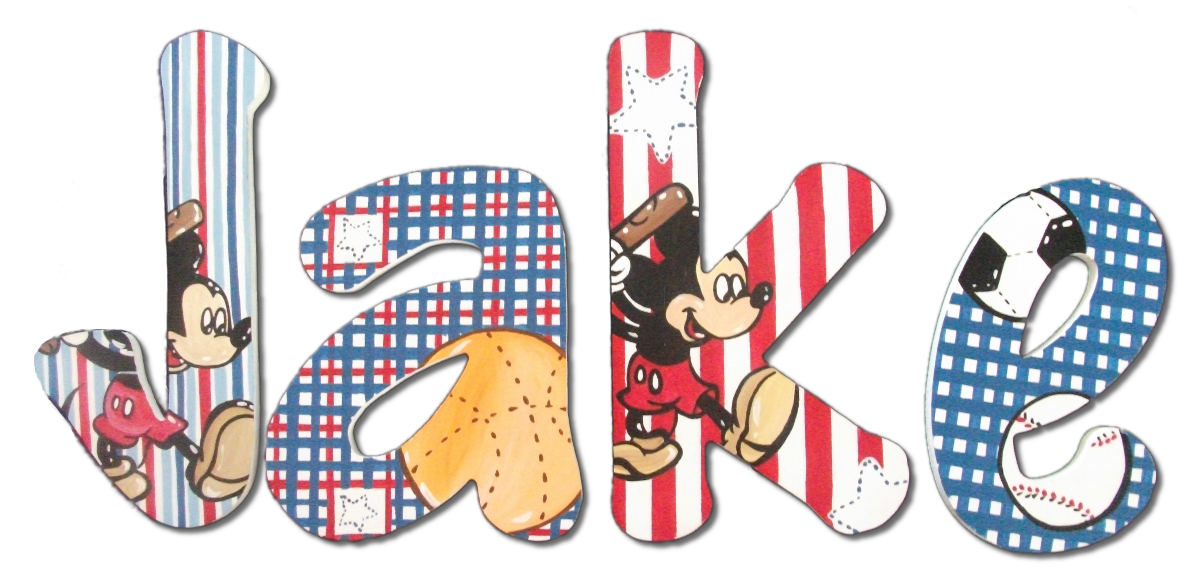all sport mickey mouse wall letters
