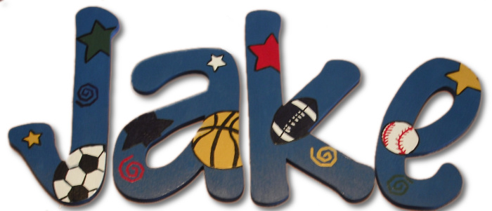 All Sport Jake Hand Painted Wall Letters
