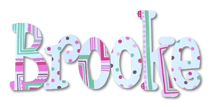 Pink and Green Geo Dot Handpainted Letters Thumbnail 1