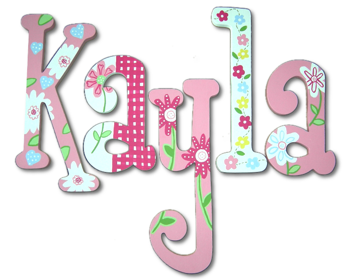 Free number 60 coloring pages - Kayla S Gingham Amp Flowers Hand Painted Wall Letters