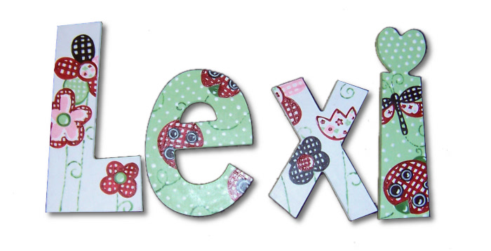 Lexi S Ladybugs Hand Painted Wall Letters