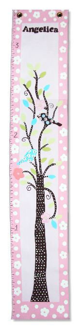 Custom Painted Wooden Growth Chart Thumbnail 1
