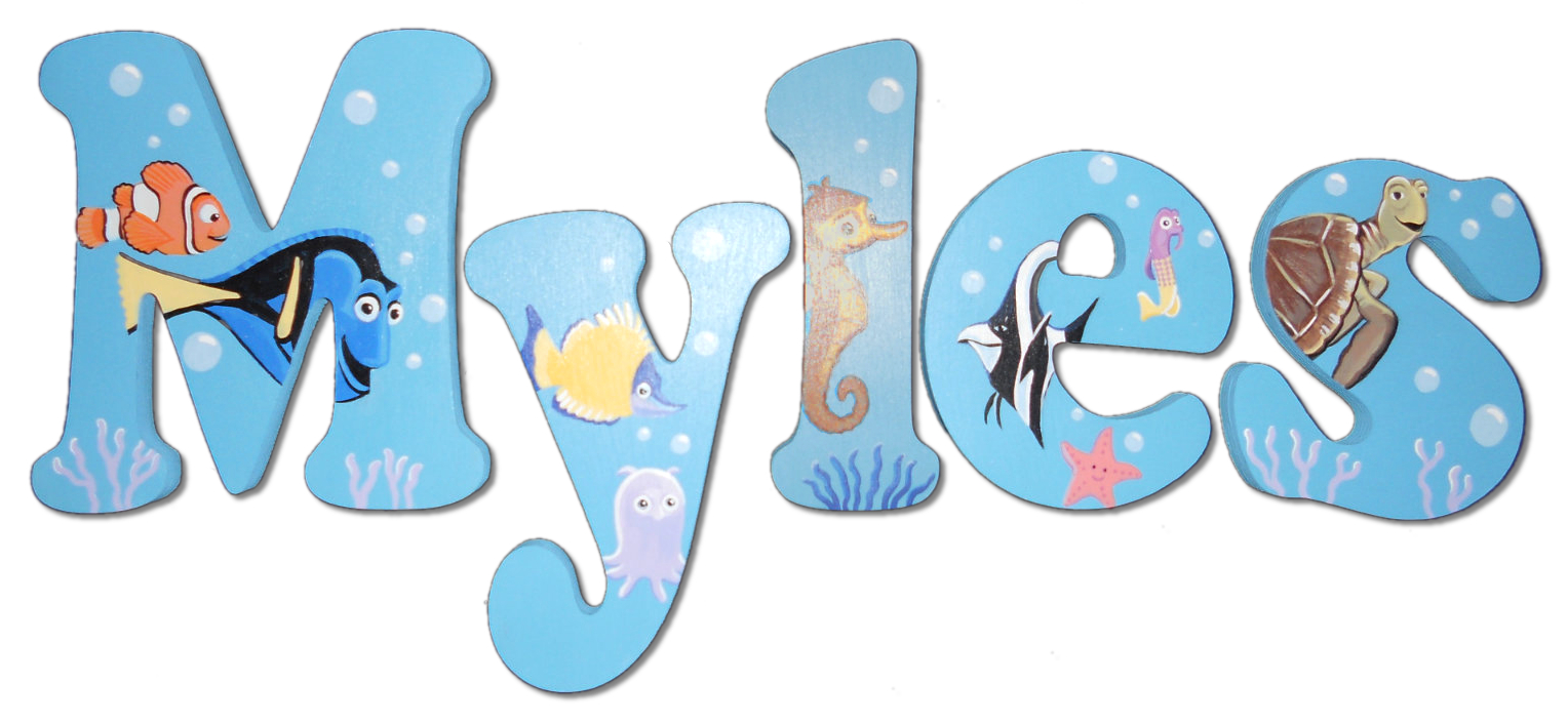Swimming With Nemo Hanging Letters