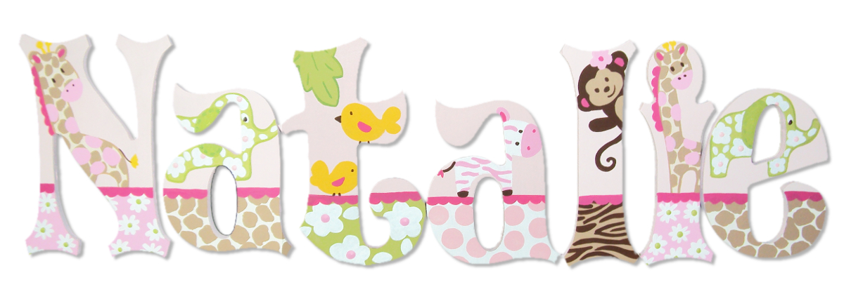 jungle jills personalized letters for girls