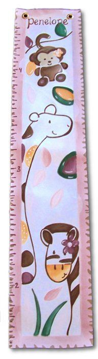 Custom Painted Wooden Growth Chart Thumbnail 7