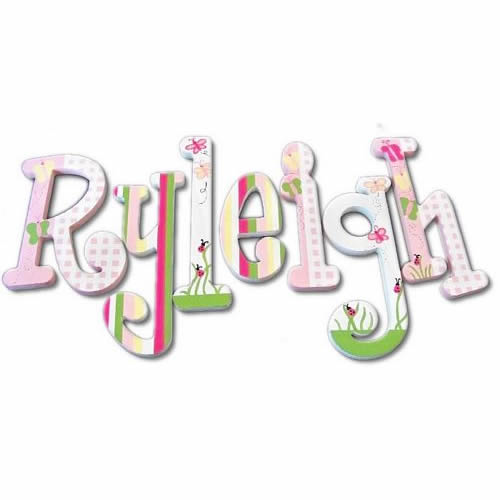 Buttlerfly Garden Custom Painted Letters Thumbnail 1