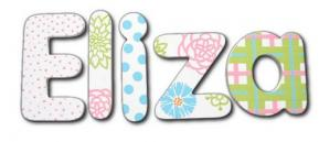 Flower Outline Hanging Wall Letters