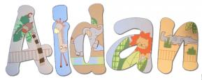 Jungle Baby Wall Letters for Nursery