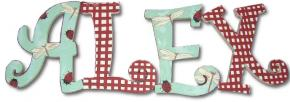 Dragonflies and Ladybugs Hand Painted Wood Wall Letters