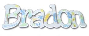 Beach Baby Hand Painted Wood Wall Letters