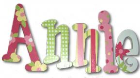 Annie's Bright Garden Hand Painted Wall Letters