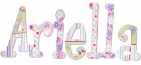 Spring Bloom Pastel Wall Letters