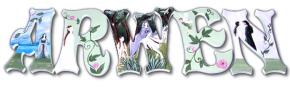 Arwen's Fantasy Hand Painted Wall Letters