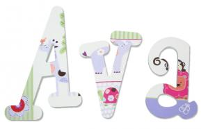 Girly Jungle Animal Wood Letters