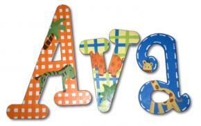 Ava's Jungle Animal Hand Painted Wall Letters Thumbnail
