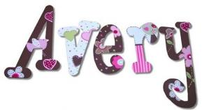 Love Bird Hanging Wall Letters